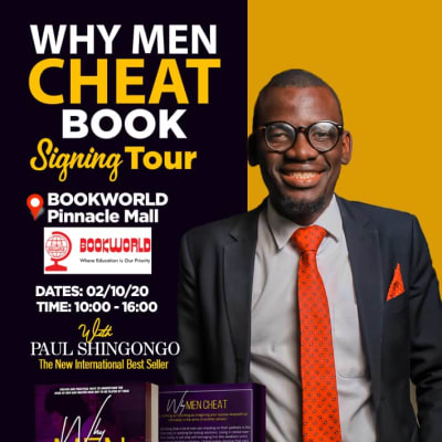 Why Men Cheat- Book signing Bookworld image