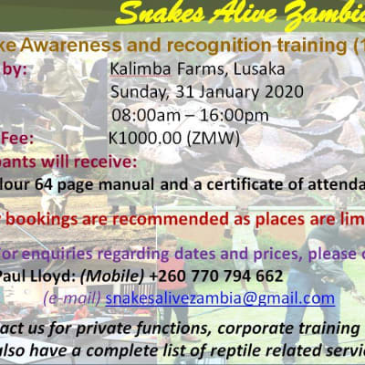 Snake Awareness & Recognition Training (1 day) image