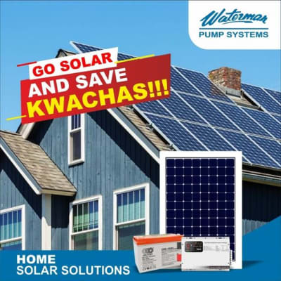 Go solar and save kwacha! image
