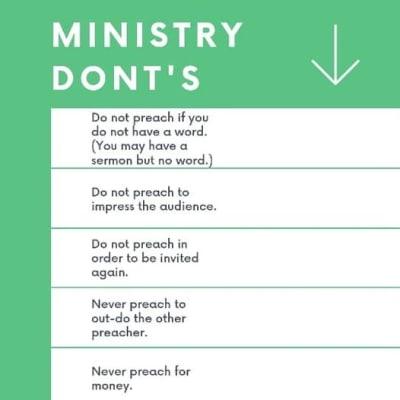 Ministry DONT'S by Bishop Bernard Nwaka image