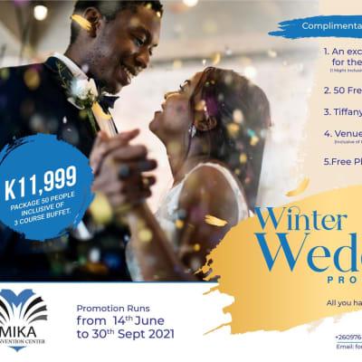 Winter wedding promotion image