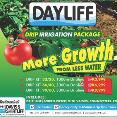 Get Quality, durable and affordable Dayliff Drip Irrigation package! image