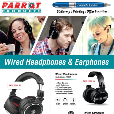 Parrot wired headphones available in stock! image