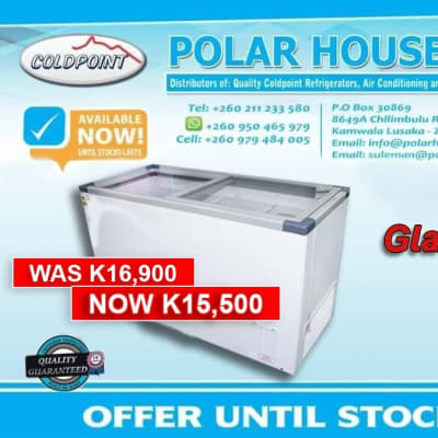 Glass top freezer at only ZMW 15,500 image