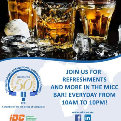 Enjoy refreshing drinks from a premium beverage list image