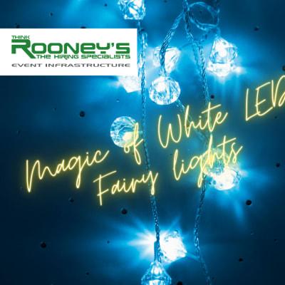 Magic of white LED fairy lights! image