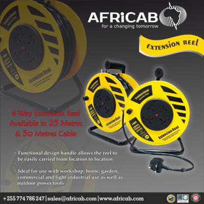 Africab brings you the 4 - way extension reel in different sizes image