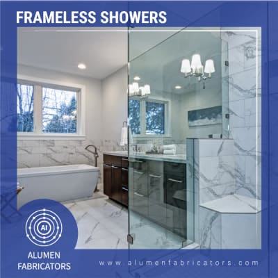 Frameless showers image