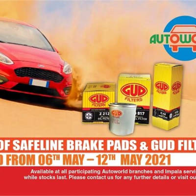 15% special on Safeline brake pads and GUD filters image