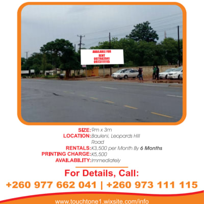 Billboard available for rent in Bauleni image