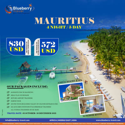 4 Nights / 5 days in Mauritius at Anelia Resort and Spa image