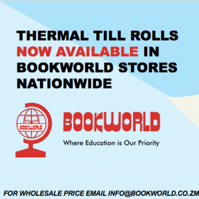 Thermal till rolls are now available in Bookworld stores image