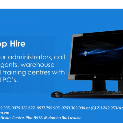 Desktop hire - equip your administrators, call center agents or training centers with powerful PC'S costs image
