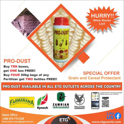 Special offer on grain cereal protectant  image
