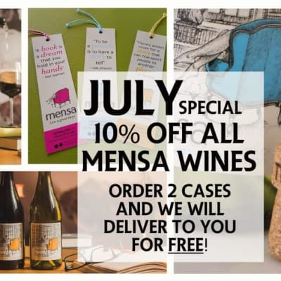 July special - 10% off Mensa wines image
