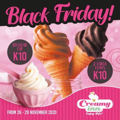 Make a loved one's day with two large cones at K10 or one regular cup at K10 image