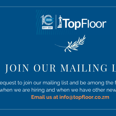 Email TopFloor Zambia and request to join the mailing list image
