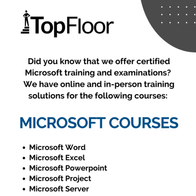 Did you know TopFloor offer certified Microsoft training and examinations image