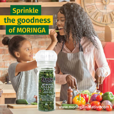 Add some goodness and flavour to your cooking with Moringa Celery Salt from Zamor Products. image