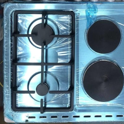 Fancy up your kitchen with this unique 6 burner stove electric / gas image
