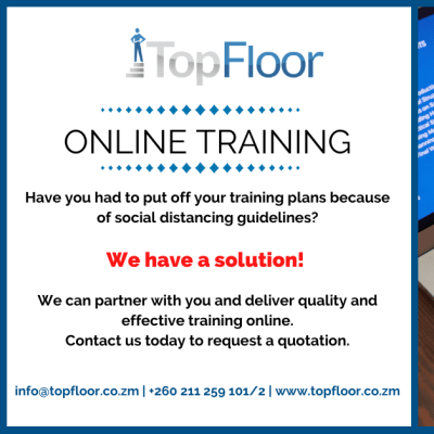 TopFloor Zambia offers flexible online training on various platforms  image