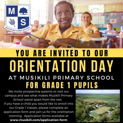 You are invited to orientation day for grade 1 pupils image