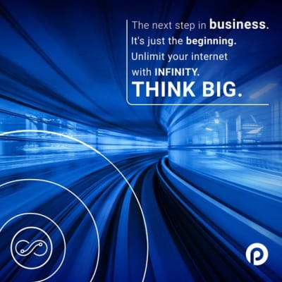 """Why settle for """"speeds of up to"""" when you can get guaranteed unlimited connectivity with Infinity Business? image"""