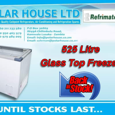 Glass top freezer - 525 litre now available image