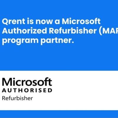 Qrent is now a Microsoft Authorized Refurbisher (MAR) program partner image