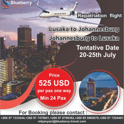 Book now for all repatriation flights image