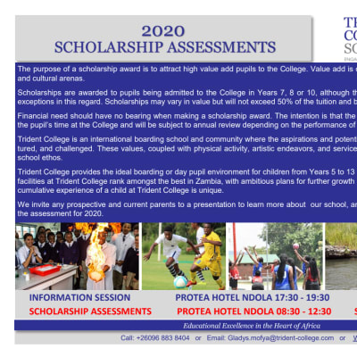 2020 Scholarship assessments in Ndola image