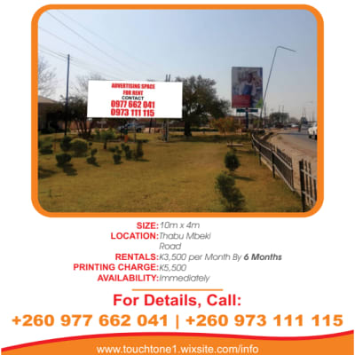 Billboard available for rent along Thabo Mbeki road image