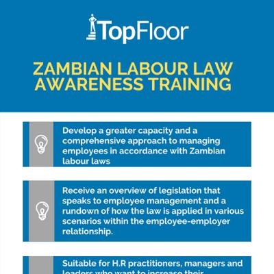 Zambian Labour Law awareness training image