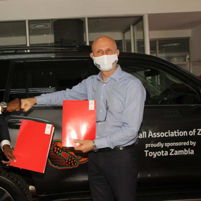 Toyota Partners with Football Association Of Zambia image