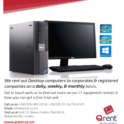 Are you a corporate looking for desktop computers? Get a free rental unit and save upto 50% image