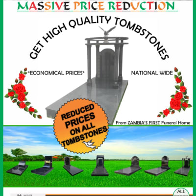 Massive price reduction on quality tombstones image