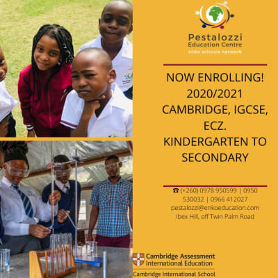 Now enrolling 2020/2021 Cambridge, IGCSE, ECZ - Kindergarten to Secondary image
