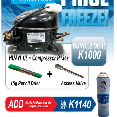 Motor Huayi 1/5 + Compressor R134a on promotion image