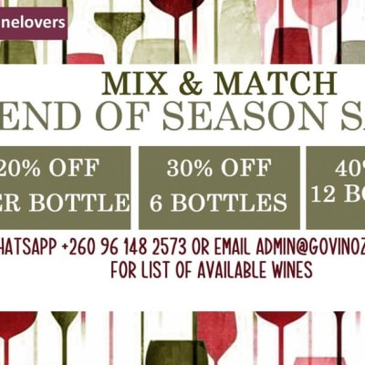 End of season sale on wine image