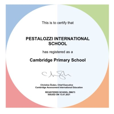 Pestalozzi Education Centre has officially been recognized as a Cambridge Primary School image