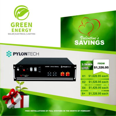 Pylon Tech 3.5KWH Lithium battery on special offer image