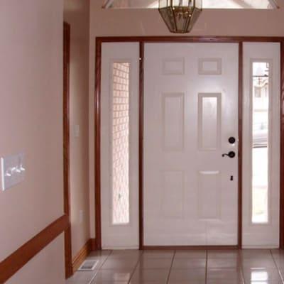 Comprehensive range of flush and solid panel hardwood doors made from mukwa image