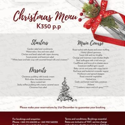 Christmas Menu - Ndola image