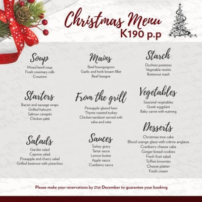 Christmas menu - Chipata image