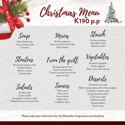 Christmas menu - Chipata image