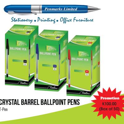 Special offer on crystal barrel ballpoint pens image