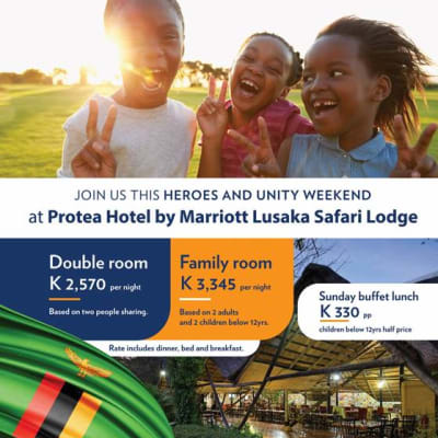 Heroes and unity weekend at Protea Hotels by Marriott Lusaka Safari Lodge image