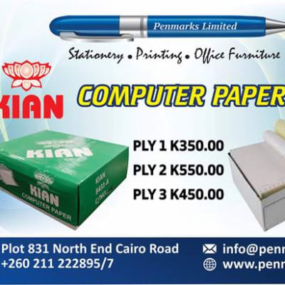 A - grade premium computer continuous paper now available in store! image