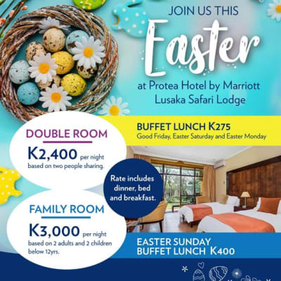 Join Protea Hotel by Marriott Lusaka Safari Lodge this Easter  image