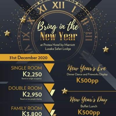 New Year's Eve Dinner Dance at Protea Marriott Hotel - Lusaka Safari Lodge image
